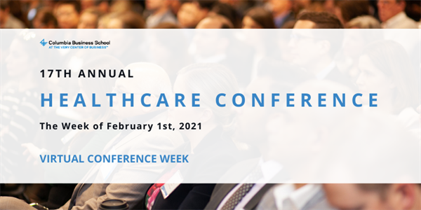 17th Annual Columbia Business School Healthcare Conference Event Logo