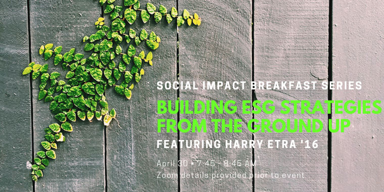 Social Impact Breakfast Series: Building ESG Strategies from the Ground Up Event Logo