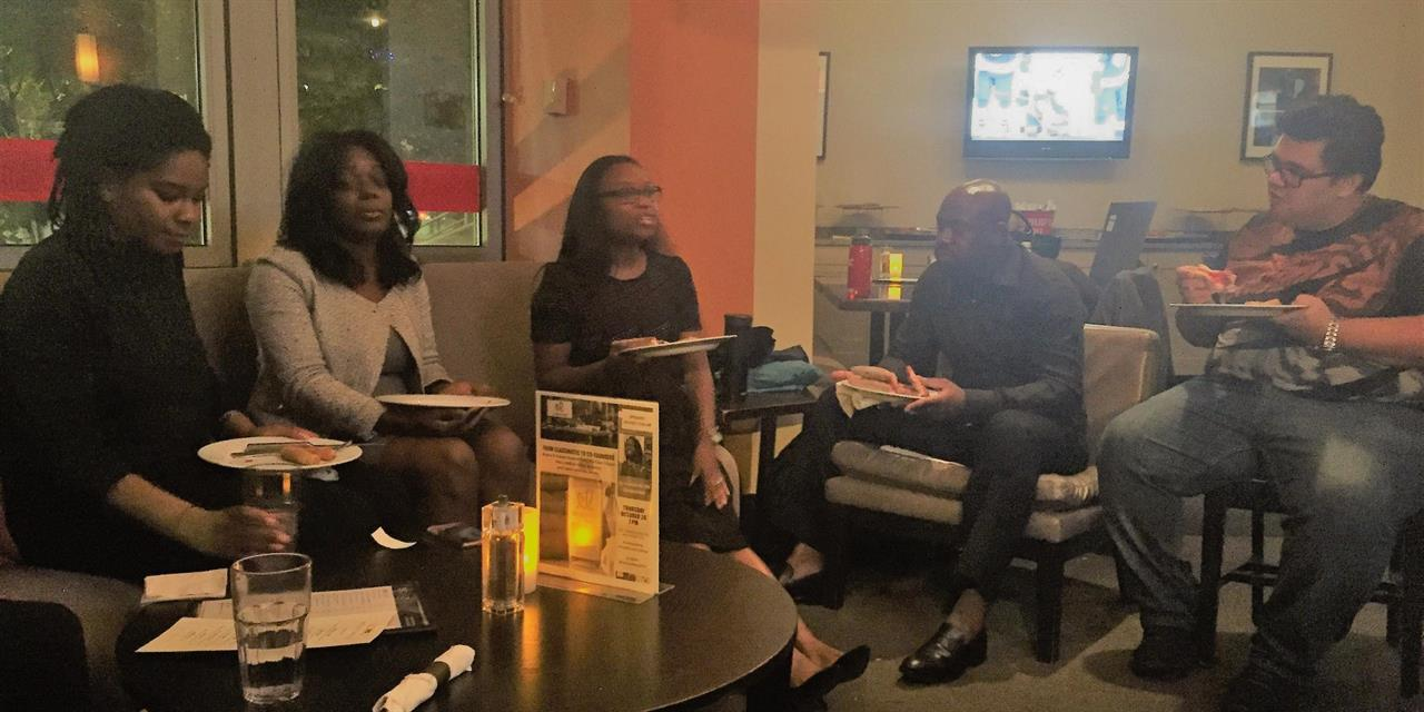 Networking reception at Scoozi after the speaker series with Desiree