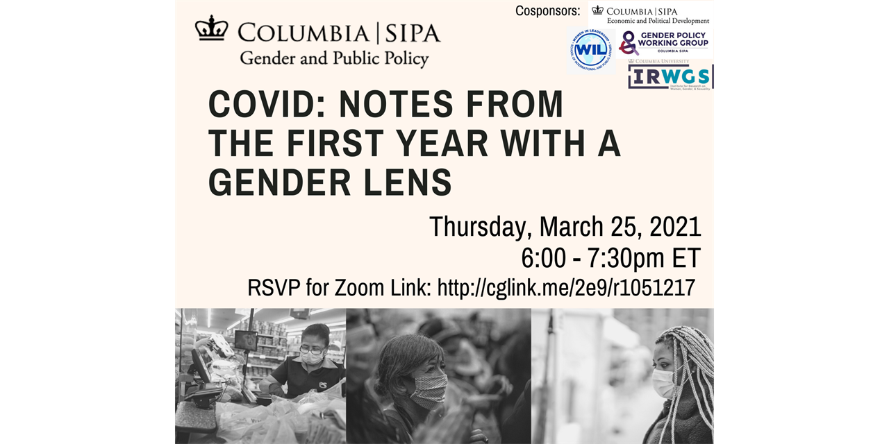 COVID: Notes from the First Year with a Gender Lens Event Logo